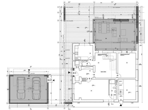 Modernizacja domu kostki w Tychach - rzut parteru