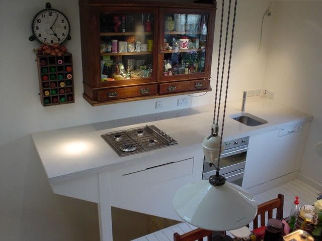 kuchnie, beton, meble kuchenne