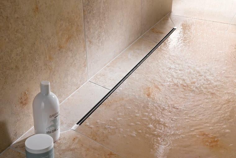 odpływ liniowy, łazienka, prysznic
