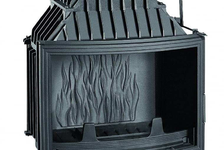 Uniflam 700 Panorama/GALERIA KOMINKÓW   Moc: 14 kW   półokrągła szyba   paliwo: drewno   szyber do regulacji siły ciągu, doprowadzenie powietrza do spalania z zewnątrz. Cena: 3449 zł, www.galeriakominkow.pl