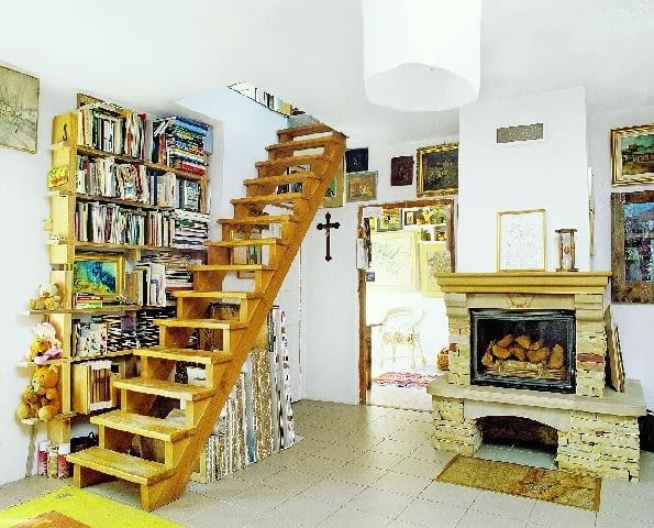 dom jednorodzinny, Kazimierz, przebudowa, schody