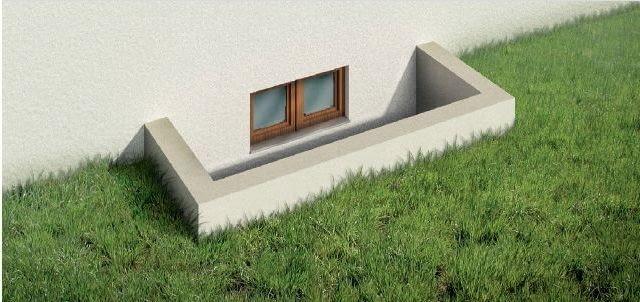 Sposoby zabezpieczenia domu przed zalaniem - podwyższone ścianki studzienki okien piwnicznych