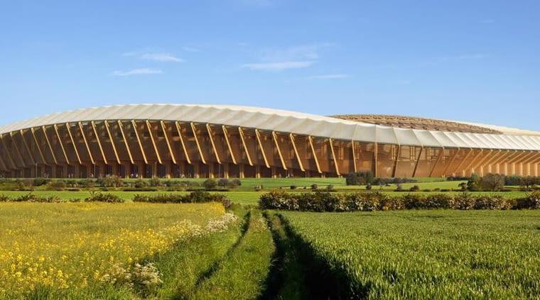 Wizualizacja drewnianego stadionu Forest Green Rovers