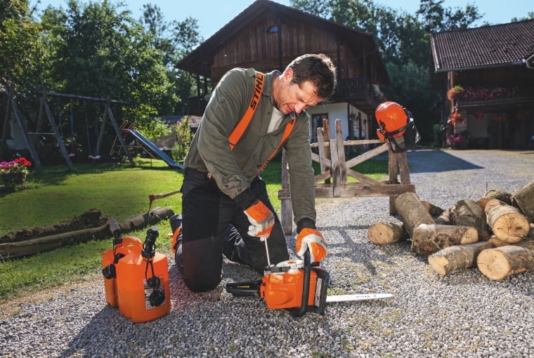 KOMPAKTOWA PILARKA SPALINOWA STIHL MS 170 do przygotowania drewna opałowego i prac ogrodowych, ok. 700 zł, Stihl.