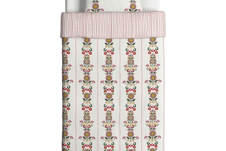 Pościel Akerkulla, bawełna perkalowa, 99,99 zł, IKEA