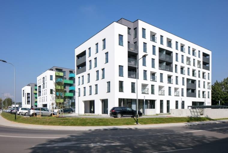 Zwycięzca: budynek wielorodzinny nowy. Osiedle Czyżewskiego 1 w Krakowie (projekt: B2 STUDIO, realizacja: P.B.H.T. Edmund Leś)