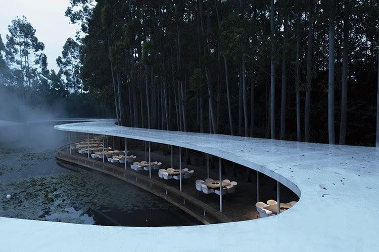 Restauracja Garden Hotpot w Chengdu. Proj. MUDA-Architects.