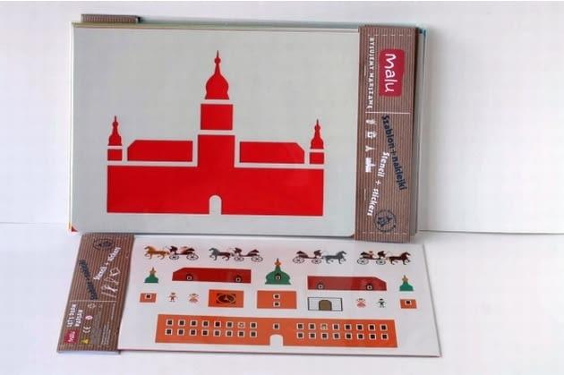 Rysujemy Warszawę - zestaw naklejek i szablonów, proj. Malu