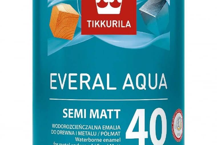 EVERAL AQUA 40 SEMI MATT/TIKKURILA | półmatowa emalia akrylowa. Cena: 49zł/1l