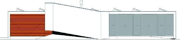 Dom bez schodów - elewacja zachodnia