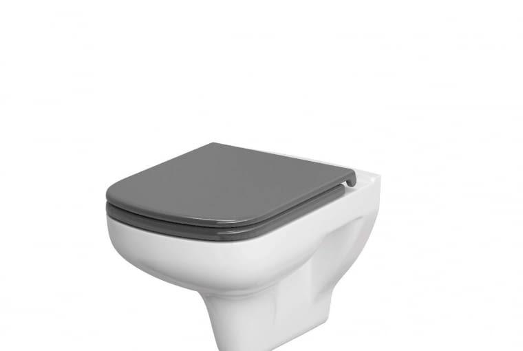 Colour Cersanit/CERSANIT. Miska podwieszana, dostępna również w tradycyjnej, kompaktowej wersji; można wyposażyć ją w białą lub szarą antybakteryjną deskę toaletową; dostępna także w wersji bezrantowej. Cena: 409 zł, www.cersanit.com.pl