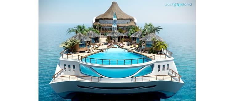 Tropical Island Paradise, proj. Yacht Island Design