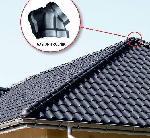 Kalenica i naroża dachu wielopołaciowego