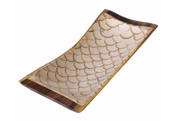 W stylu tego wnętrza: patera z drewna egzotycznego, 42 x 18 cm, tutam.pl, cena: 249 zł