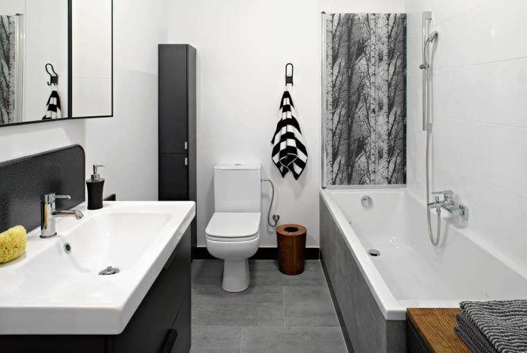 łazienka, wystrój wnętrz, szare wnętrze