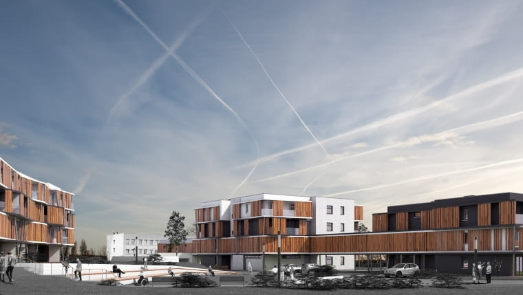 Koncepcja architektoniczno- urbanistyczna zespołu mieszkalno-usługowego 'CENTRUM 50+' dla osób w wieku senioralnym przy ul. Warszawskiej w Gliwicach