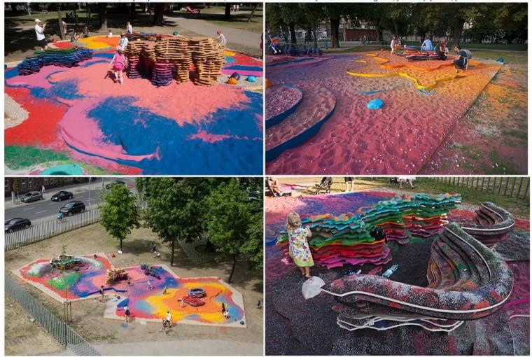 The practice of freedom - projekt partycypacyjny z użyciem kolorowego piasku