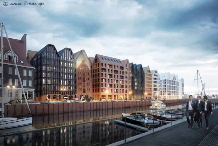II etap inwestycji Granaria na Wyspie Spichrzów w Gdańsku