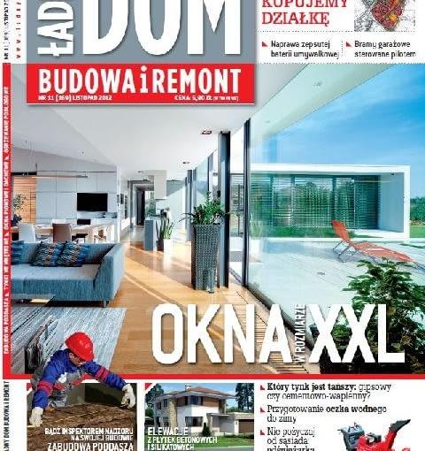 Okładka miesięcznika Ładny Dom 11/2012