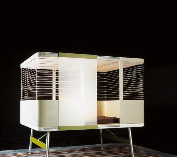Lit clos; projekt: bracia Bouroullec dla Kreo Gallery