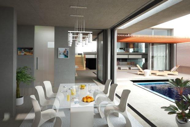 Jeśli marzymy o dużych przeszkleniach, pamiętajmy, że dobrej jakości okna tarasowe to istotna część kosztów budowy domu