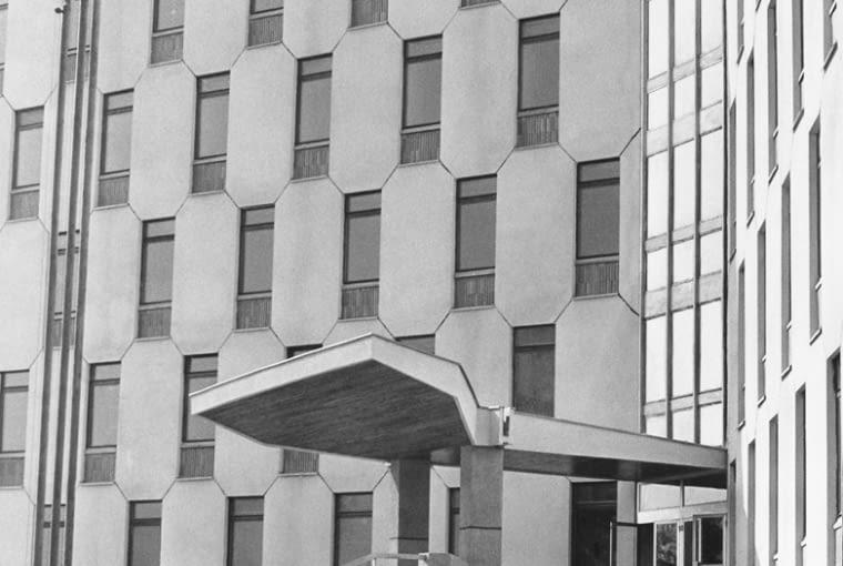Budynek policji w Częstochowie, zdjęcie archiwalne