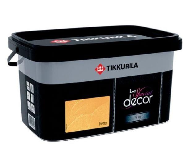 Tynk strukturalny Be Special Decor Retro firmy TIKKURILA; efekt: indywidualne faktury; kolor: system barwienia według palety barw Tikkurila; cena: 135,16 zł/9 kg