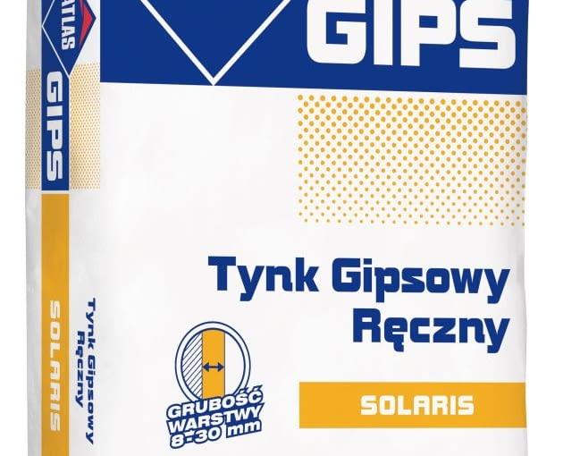 Atlas Gips Solaris - tynk gipsowy ręczny, worek 25 kg, cena orientacyjna brutto 27,58 zł