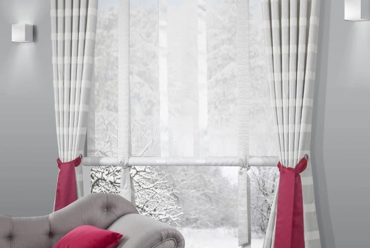 Aranżacja okna, zasłony i firany