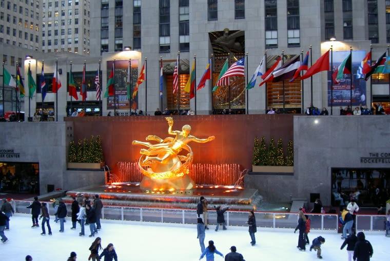 Rockefeller Center Nowy jork lodowisko