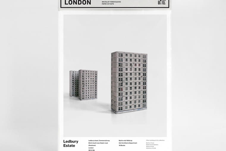 "Kolekcja wycinanek ""Brutal London"""