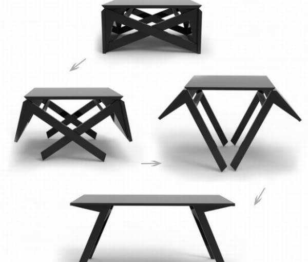 meble wielofunkcyjne, rozkładany stół, rozwiązania, meble