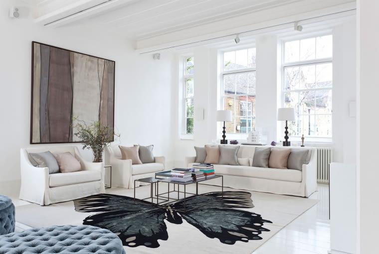 Salon, dywan, wyposażenie wnętrz