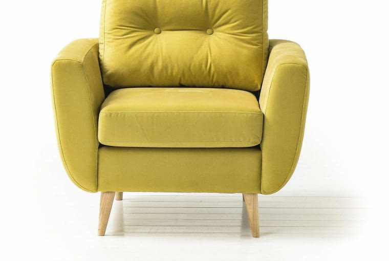 Fotele do 1000 zł: fotel Harris, welur, Agata Meble, 909 zł