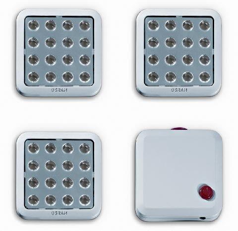 Zestaw QOD OSRAM, lampa podszafkowa, moc: 4 W, 16 LED, barwa ciepłobiała, cena: 350 zł/3 lampy i włącznik