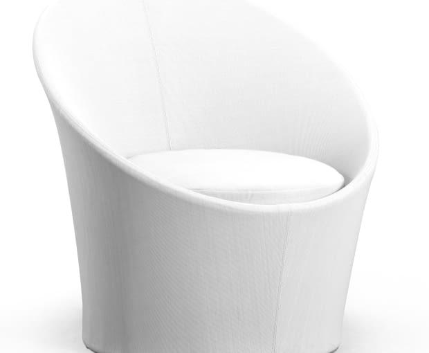 Zestaw mebli ogrodowych Lisbon Round marki Miloo, Komplet: dwa fotele - wykończenie w tkaninie texteline w kolorze białym lub szarym oraz stolik kawowy, www.houseandmore.pl,1995 zł/zestaw
