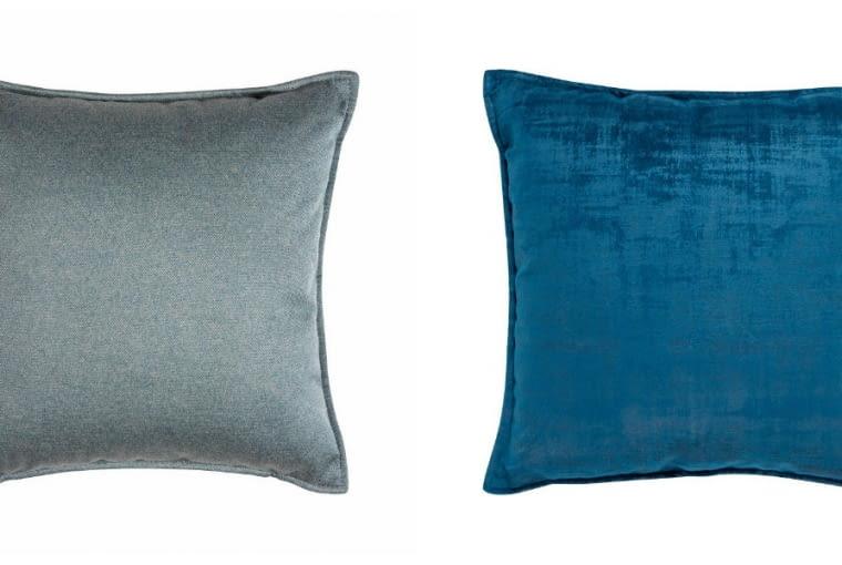 Sofy są sprzedawane w komplecie z dwiema poduszkami (Novel i Novara) w kolorze tapicerki.