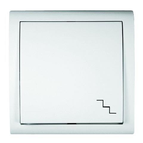 Przełącznik schodowy oznaczony jest zawsze piktogramem schodów
