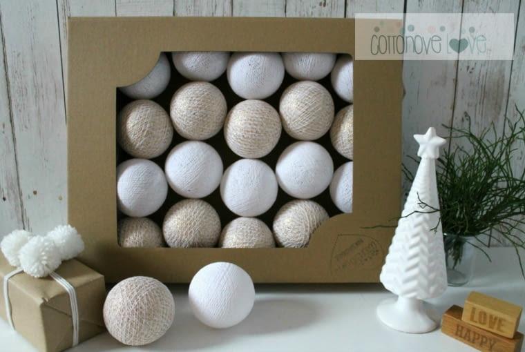 W stylu tego wnętrza: Lampki cotton balls, cottonovelove.pl, 100 zł