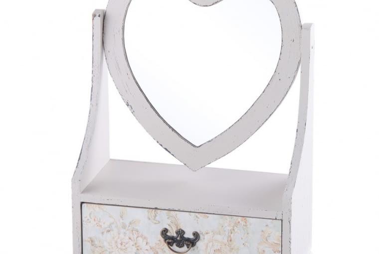 Szafka łazienkowa Heartshaped, MDF, 24 x 11 x 31 cm, home&you, cena: 79 zł