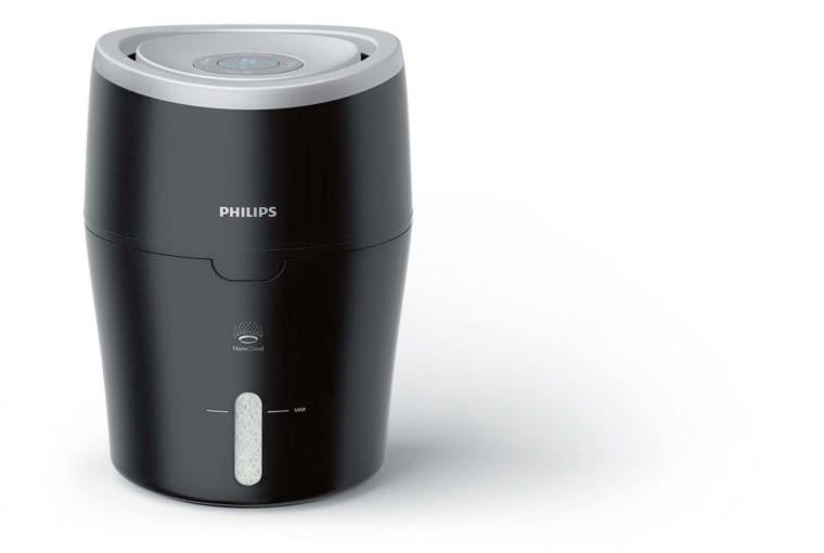 HU4813/10, ewaporacyjny, wydajność 0,3 l/godz., automatyczne ustawienie poziomu nawilżania, 629 zł, Philips