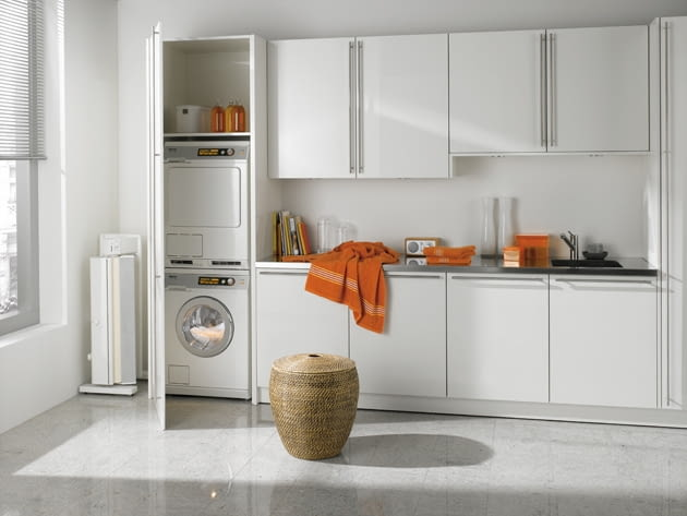 pralka do zabudowy, pralka w kuchni, pralka, suszarka, sprzęt agd, zabudowa kuchenna