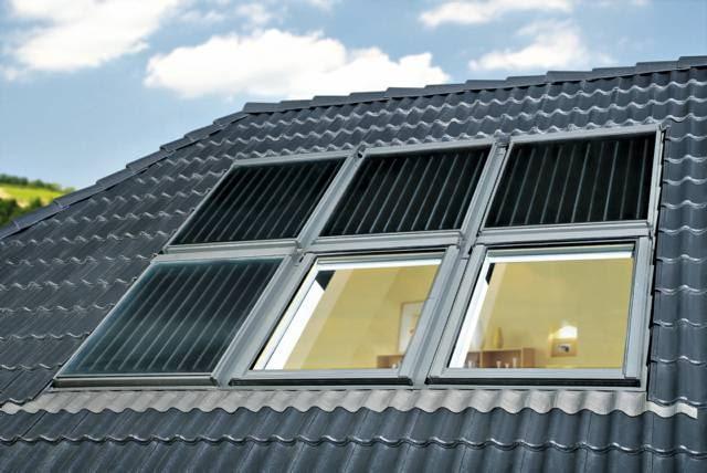 Kolektory można instalować w zestawach z oknami połaciowymi