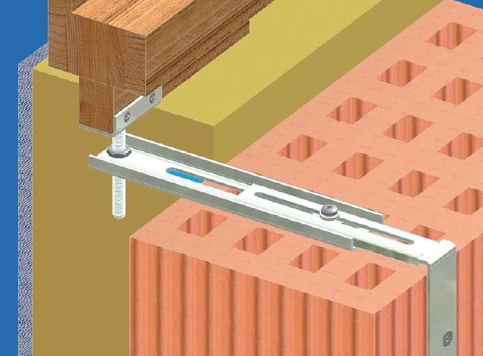 Jeśli ściana wykonana jest z pustaków lub lekkich bloczków, konsole i wsporniki można mocować do muru za pomocą specjalnych łączników