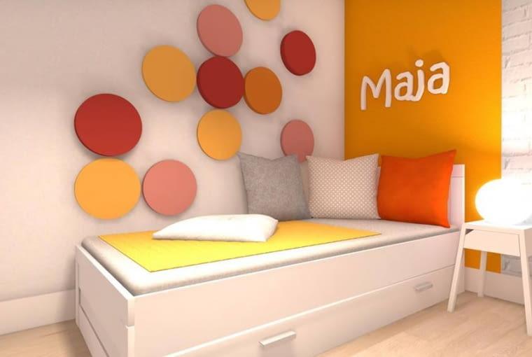 Wykonane z gąbki panele można umieścić w pokoju dziecięcym.