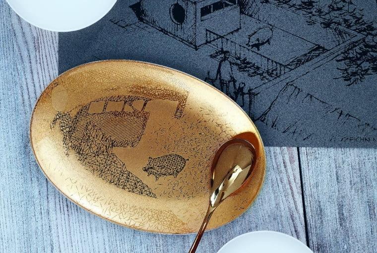 Świnka Roro, ulubienica Philipa Rosenthala Jr. Pojawia się jako humorystyczny motyw na wybranych elementach kolekcji. Palazzo Roro. Nika Zupanc