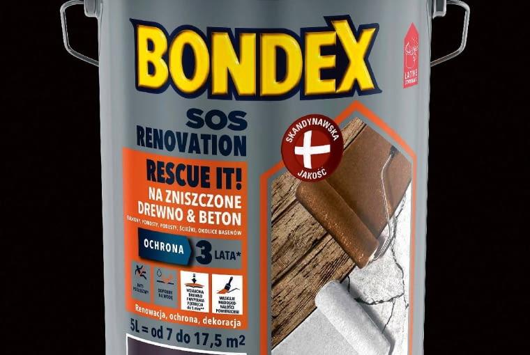 Farba kryjąca SOS Renovation/bondex | Do odnowy zniszczonego, wyblakłego drewna. Cena: 71,60 zł/1l