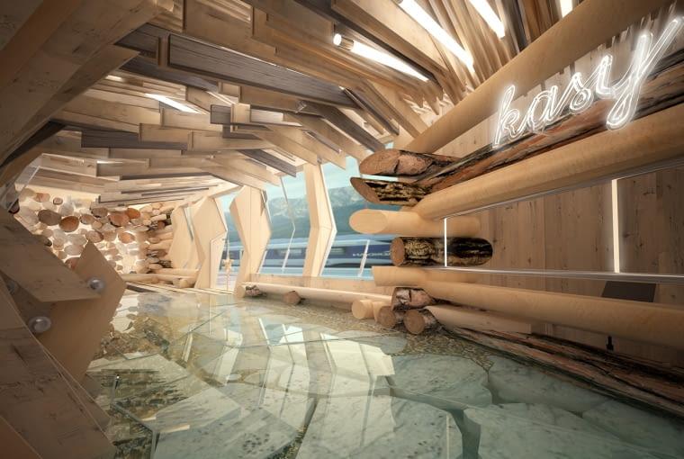 Wnętrza dworca w Zakopanem