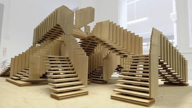 Surrealistyczne schody Festiwalu Designu w Londynie