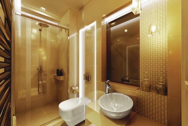 łazienka, oświetlenie łazienki, aranżacja łazienki
